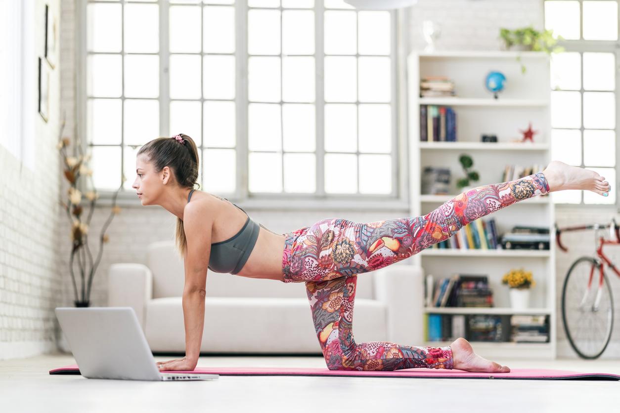 doing yoga fun things at home