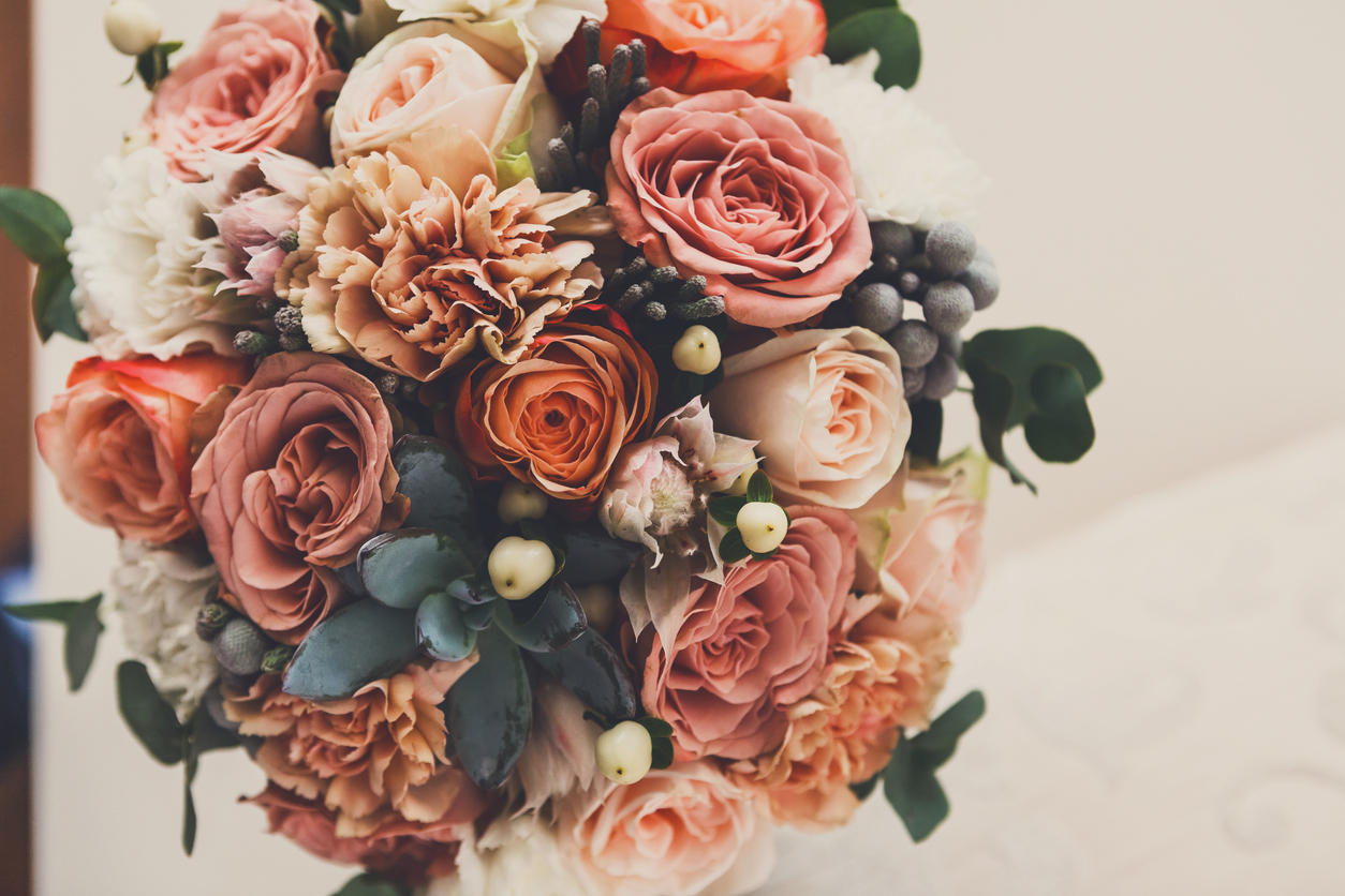 beautiful bouquet on table from florists who deliver