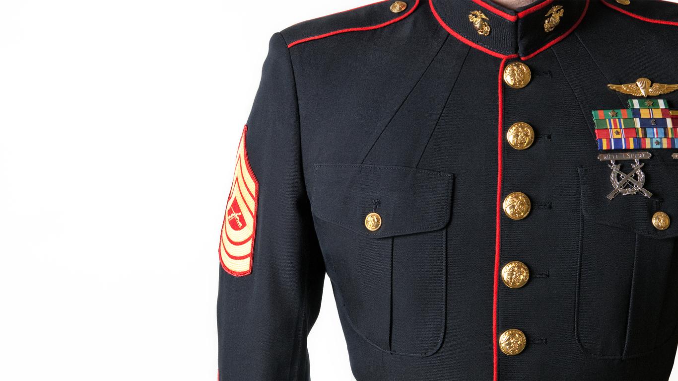 Marine Corps Dress Blues Uniform