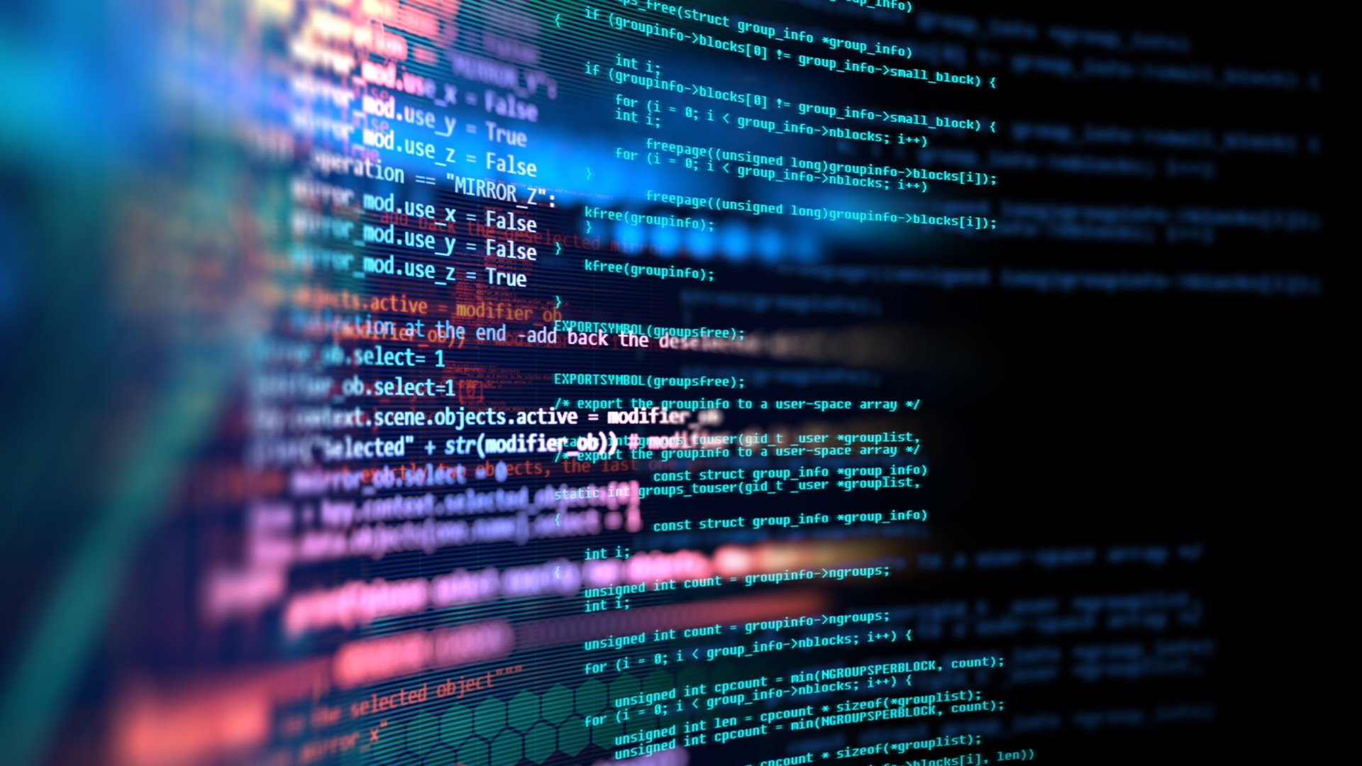 Programming code abstract technology background of software developer | International Spy Museum