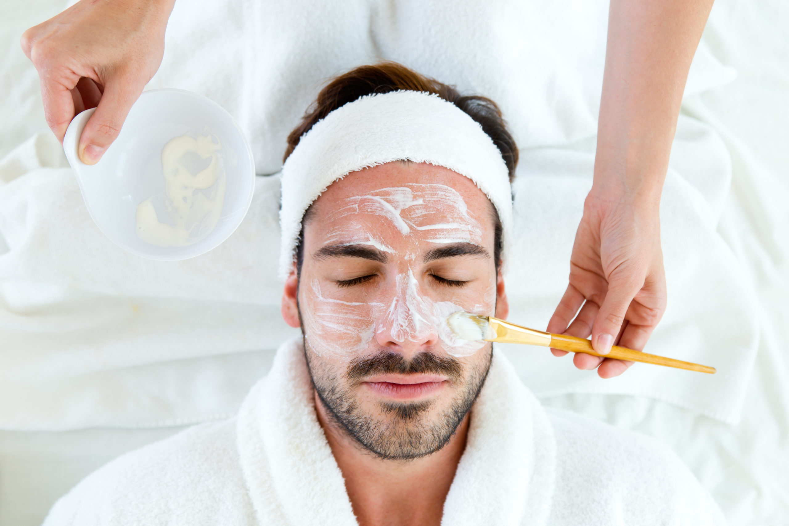 man getting a facial | day spas in Arlington, VA